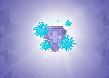 covid 19 protection shield against epidemic background