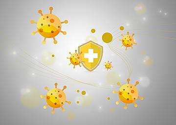 covid 19 virus shield medical background