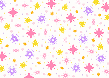 gentle colorful pink purple yellow white stars tile background