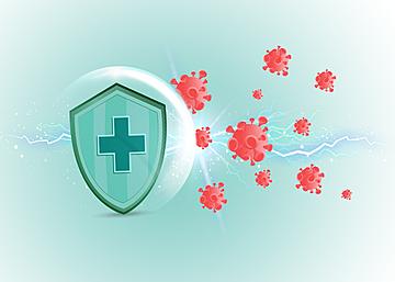 new crown epidemic prevention shield virus light effect background