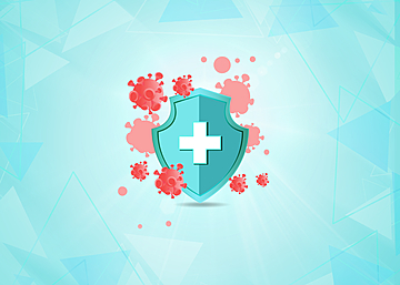 new crown virus protection shield background