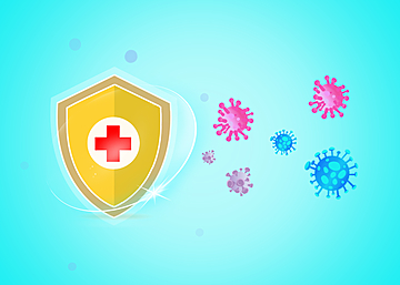 new crown virus protection shield light effect background