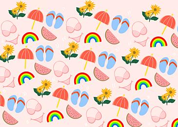 cute summer tiled background