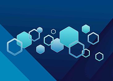 hexagon polygon geometric border blue business background