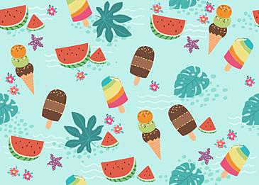 summer cute tile background