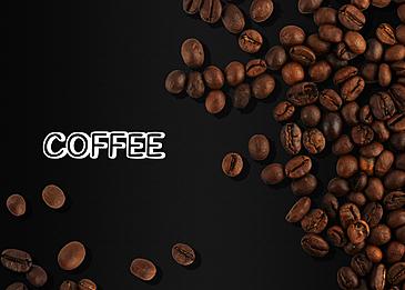 coffee beans three dimensional texture line draft