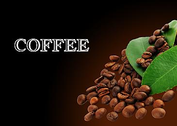 three dimensional coffee bean texture line draft