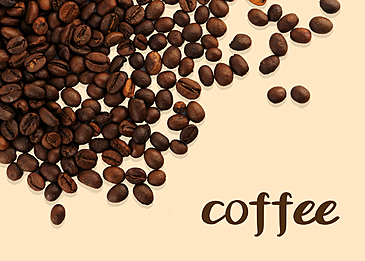 brown coffee beans lineart