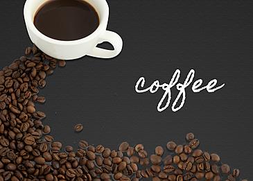 brown fine line draft coffee