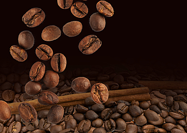 brown textured coffee beans