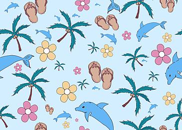 seamless summer cute background