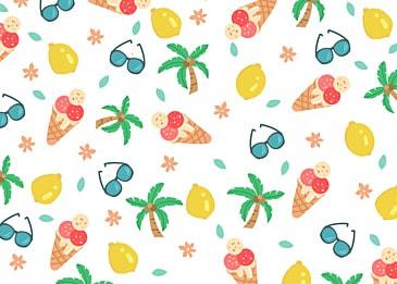 summer cute lemon background
