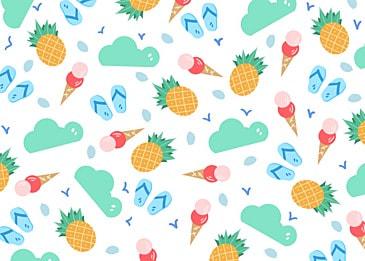 summer cute pineapple background