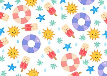 summer cute sun background
