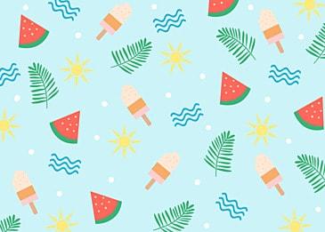 summer cute watermelon background