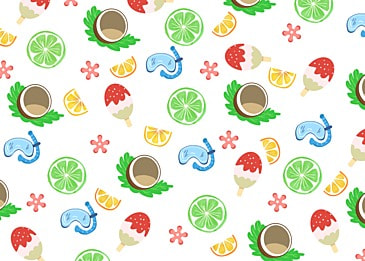 summer cute coconut background