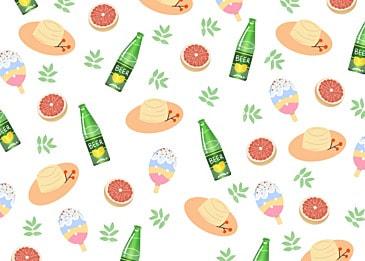 summer cute beer background