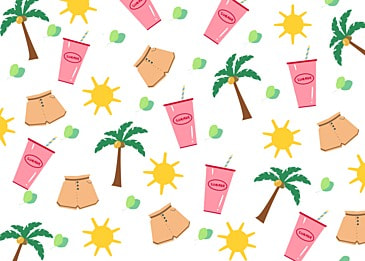 summer cute coconut tree background