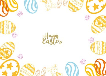 color border cute easter background