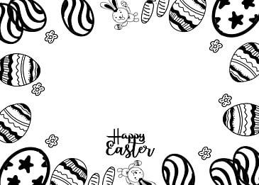 easter egg doodle style background