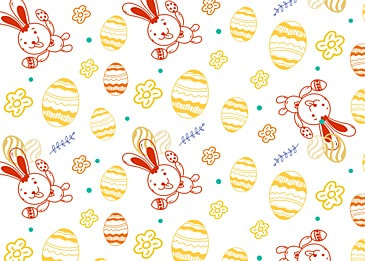 lovely line easter happy background