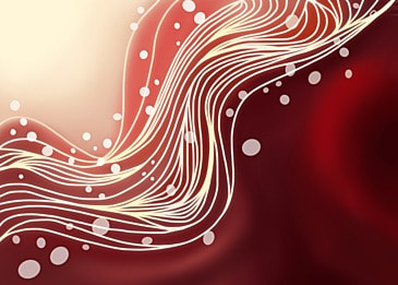 red watercolor line wavy background