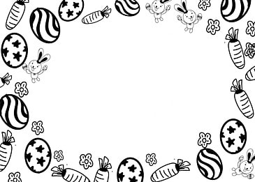 simple black and white lines easter background