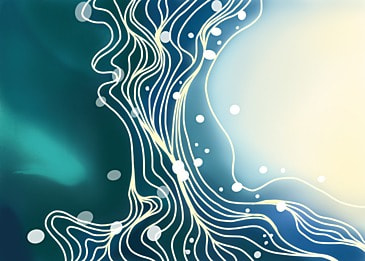 watercolor blue green gradient curve background