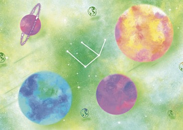 watercolor planet background