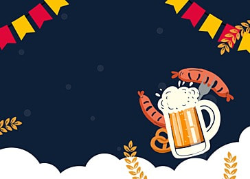 german beer festival cartoon minimalist background