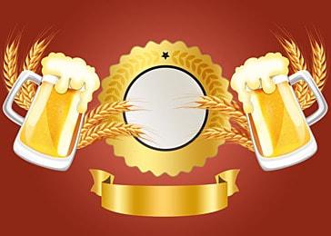 golden wheat ear wine glass germany oktoberfest background