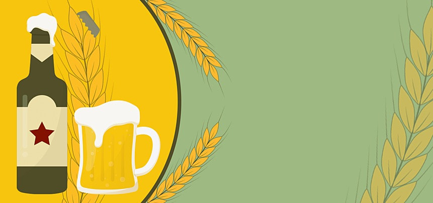 yellow and green color german oktoberfest background