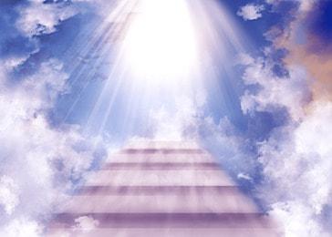 cloud heaven bright sky ladder background