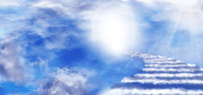 clouds abstract heaven light and shadow ladder background