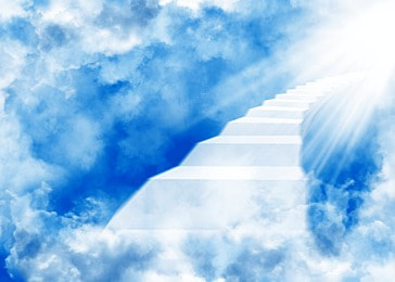 clouds abstract ladder light and shadow heaven background