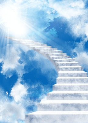 clouds abstract rotating ladder light effect heaven background