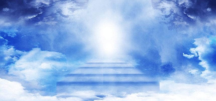 clouds blue clouds ladder light effect background