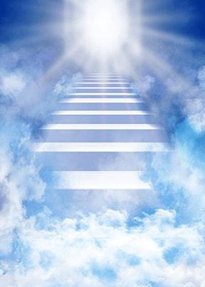 clouds ladder glitter heaven background