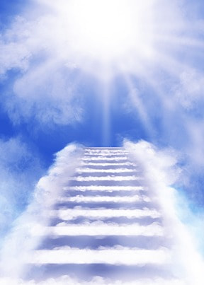 clouds light effect heaven abstract ladder background