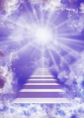 clouds purple sky heaven ladder background