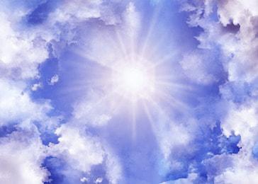 clouds shiny sky light effect heaven background