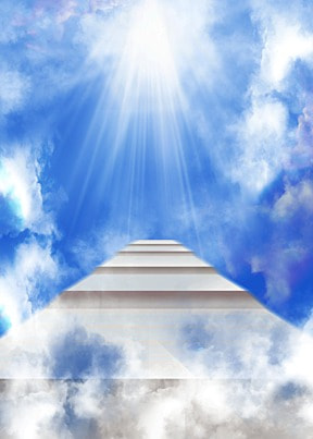 clouds sky ladder abstract light effect background