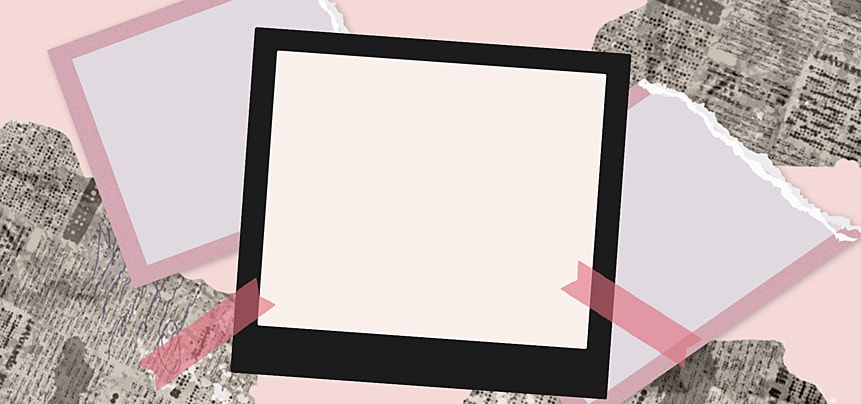 polaroid photo paper abstract newspaper decoration background