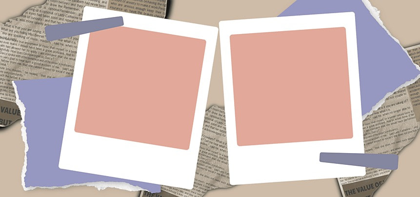 polaroid photo paper abstract notebook decoration background