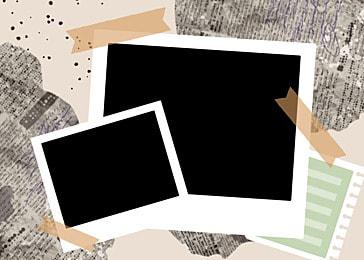 polaroid photo paper black bottom notebook background