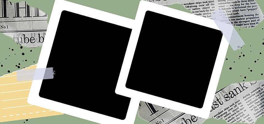 polaroid photo paper creative newspaper texture decorative background