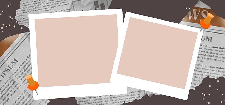 polaroid photo paper foundation newspaper background
