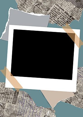 polaroid photo paper gray newspaper decoration background