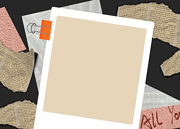 polaroid photo paper gray paper notebook background