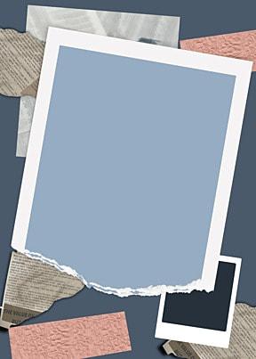 polaroid photo paper light blue shading paper background